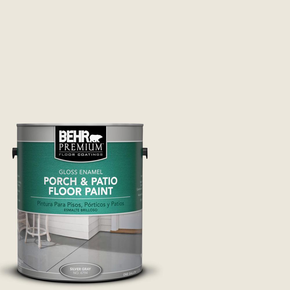 BEHR Premium 1 gal. #BXC-32 Picket Fence White Gloss Enamel Interior/Exterior Porch and Patio Floor Paint