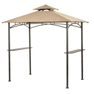 Tiki 5 ft. x 8 ft. x 8ft. Brown Grill Gazebo