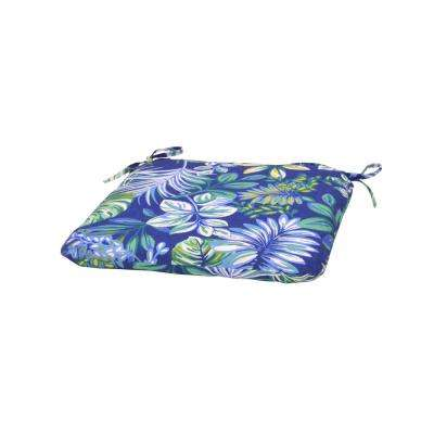 Seaglass Tropical Trapezoid Outdoor Seat Cushion