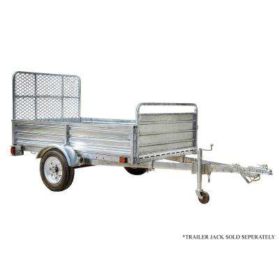 4 5 ft  x 7 5 ft  Single Axle Galvanized Utility Trailer Kit with Drive-Up  Gate
