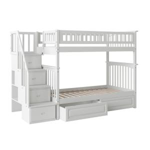 new product 6ffce 57402 Atlantic Furniture Columbia Staircase Bunk Bed Twin Over ...