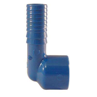1/2 in. Blue Twister Polypropylene Insert 90-Degree x FPT Elbow