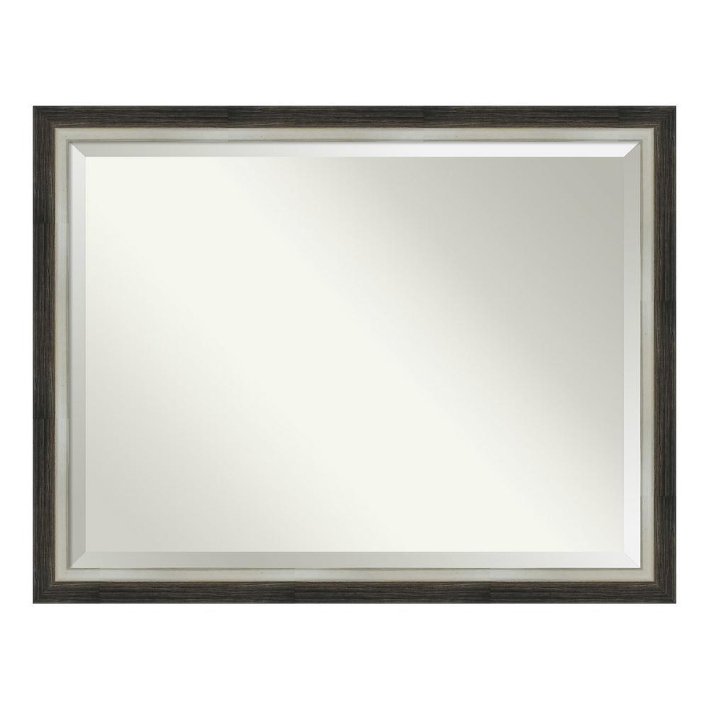 Amanti Art Brushed Metallic Wood Brown Bathroom Vanity Mirror DSW4093069