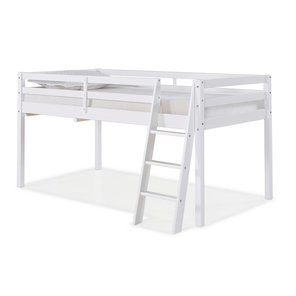 Alaterre Furniture Roxy White Twin Junior Loft Bed Ajrx10wha The