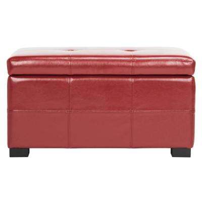 Kerrie Red Storage Bench