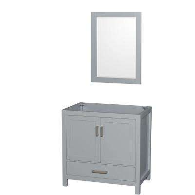Sheffield 36 in. Vanity Cabinet with Mirror in Gray