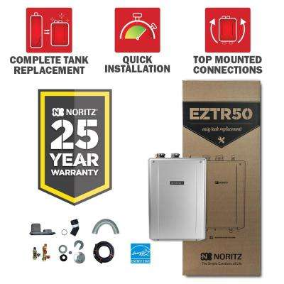 50 Gal. Tank Replacement-Liquid Natural Gas Hi-Efficiency Indoor Tankless Water Heater