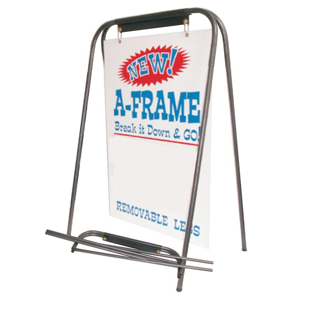 Lynch Sign Portable Tube A Frame A Frl The Home Depot