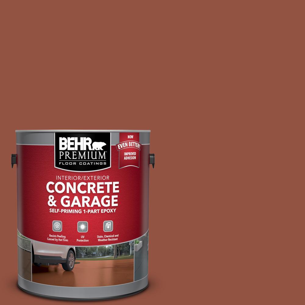 BEHR Premium 1 gal. #SC-130 California Rustic Self-Priming 1-Part Epoxy Satin Interior/Exterior Concrete and Garage Floor Paint