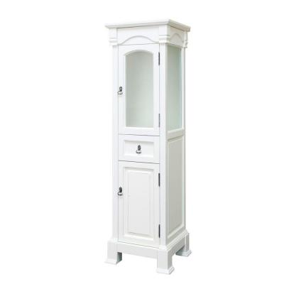 Bloomfield 18 in. W x 65 in. H x 17 in. D Bathroom Linen Storage Cabinet in Cream White