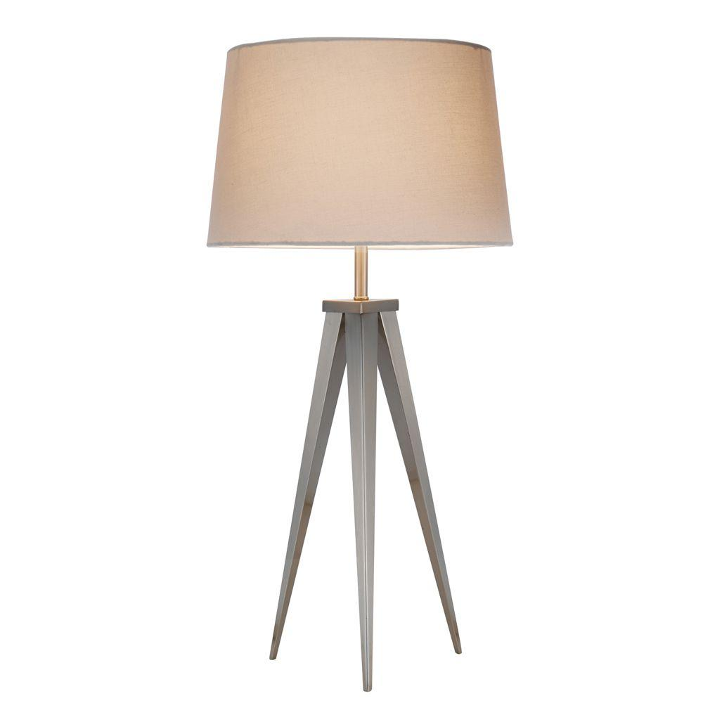 Producer 28 in. Satin Nickel Table Lamp