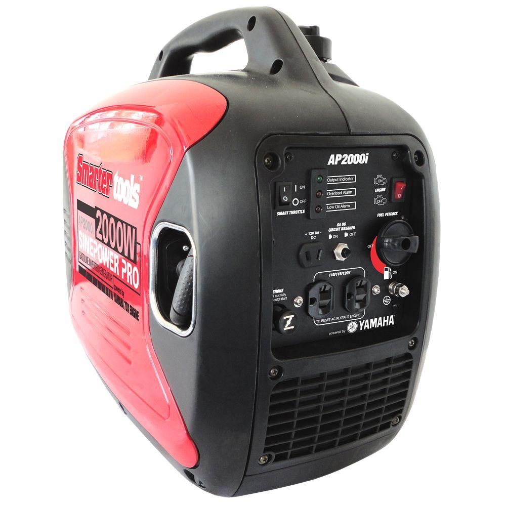 Smarter Tools AP-2000i, 1,600 Continuous Watts, Gasoline Powered Inverter Generator with Yamaha Engine-DISCONTINUED