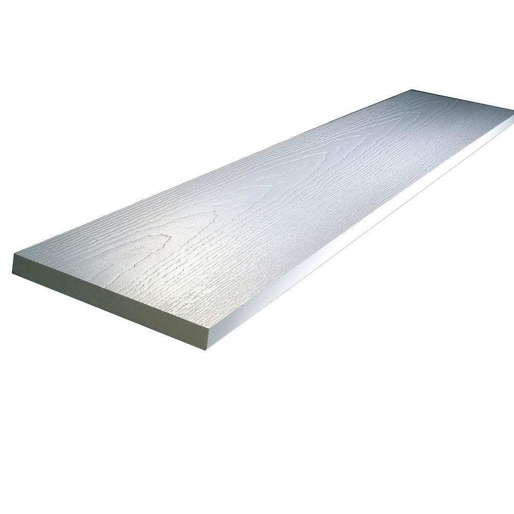 1 in. x 3-1/2 in. x 10 ft. White Reversible PVC Trim Board