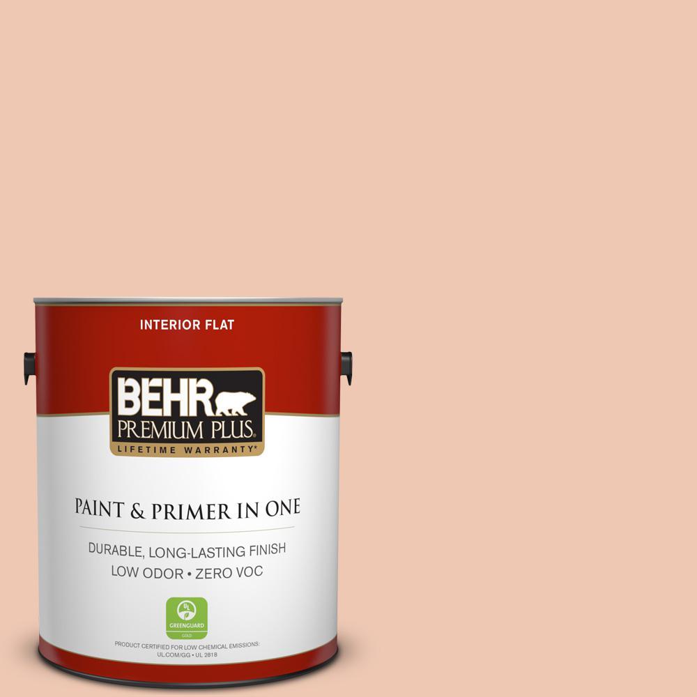 1-gal. #240E-2 Peach Bud Zero VOC Flat Interior Paint