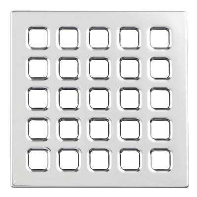 4 in. Chrome Professional Grate Kit Assembly