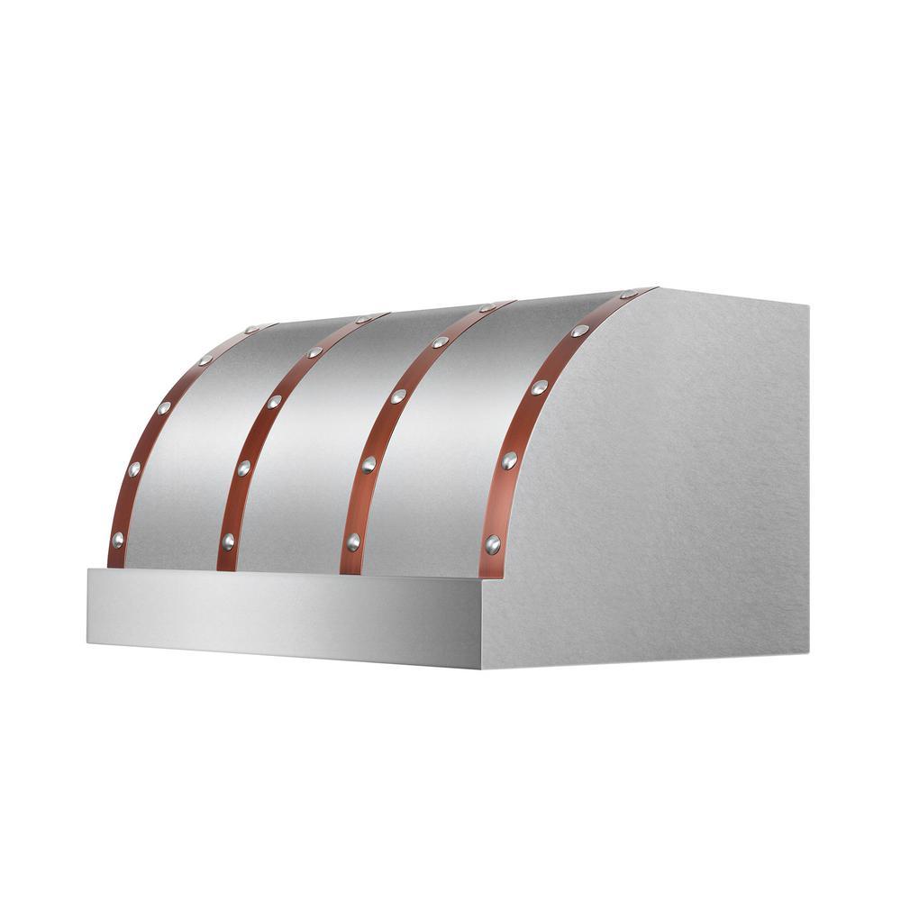 ZLINE 36 in.  Designer Series Under Cabinet Range Hood in DuraSnow Stainless Steel (436-SXCCS-36)