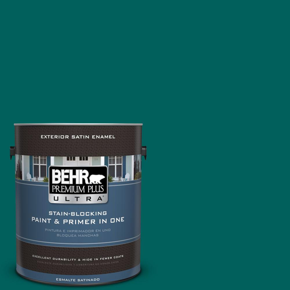 BEHR Premium Plus Ultra 1-gal. #S-H-490 Billiard Table Satin Enamel Exterior Paint