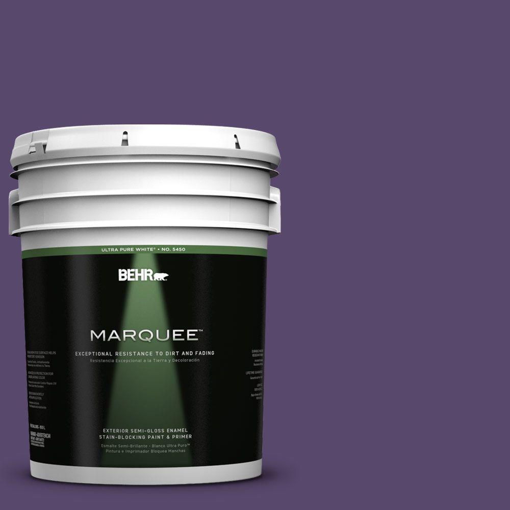 5-gal. #P570-7 Proper Purple Semi-Gloss Enamel Exterior Paint