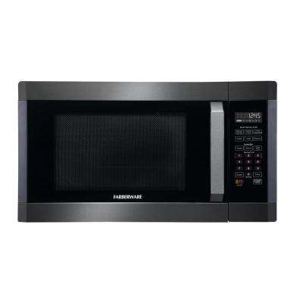 Black 1.6 cu. ft.1300-Watt Countertop Microwave in Stainless Steel with Smart Sensor Cooking