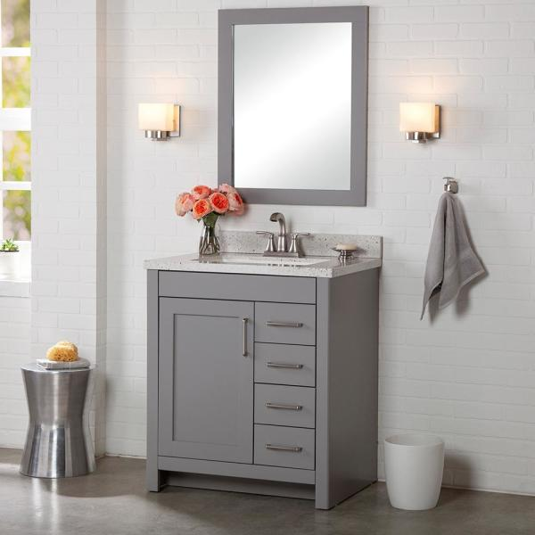Home Decorators Collection Westcourt 30 in. W x 21 in. D Bathroom