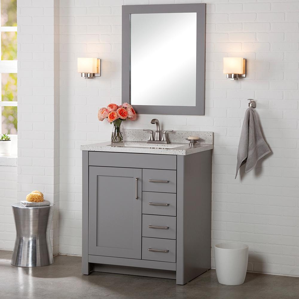 Westcourt 30 in. W x 21 in. D Bathroom Vanity Cabinet Only in Sterling Gray
