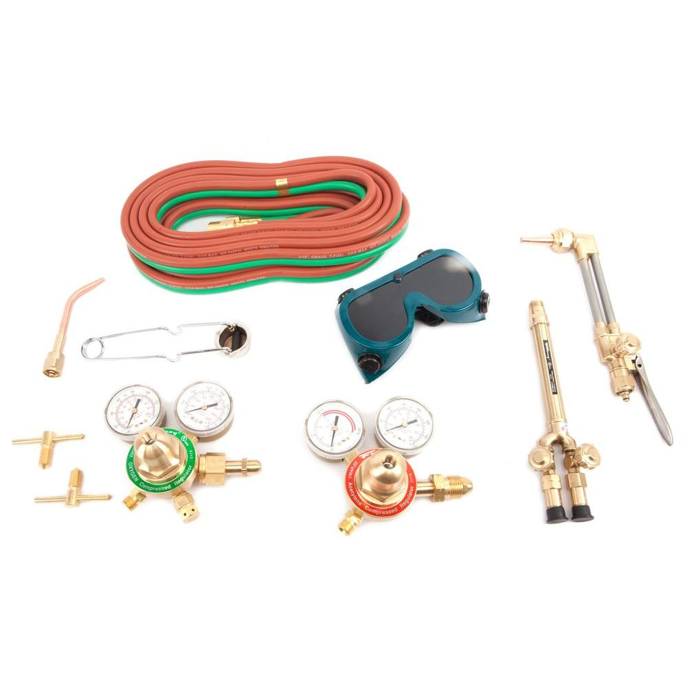 Medium Duty Oxygen Acetylene Shop Flame Victor Type Torch Kit