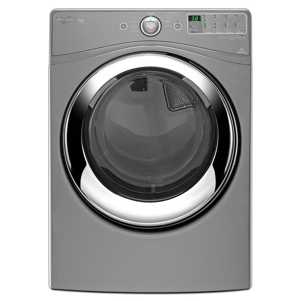 Whirlpool Duet 7.4 cu. ft. Electric Dryer with Steam in Chrome Shadow-DISCONTINUED
