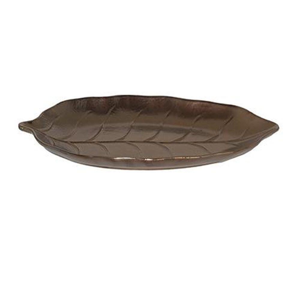 Home Decorators Collection Foglia Bronze Ceramic Large Plate