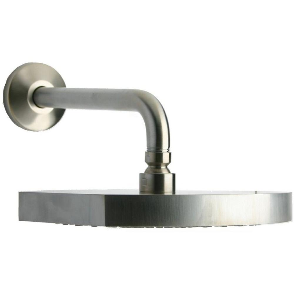 LaToscana Novella 1-Spray 8 in. Showerhead in Brushed Nickel