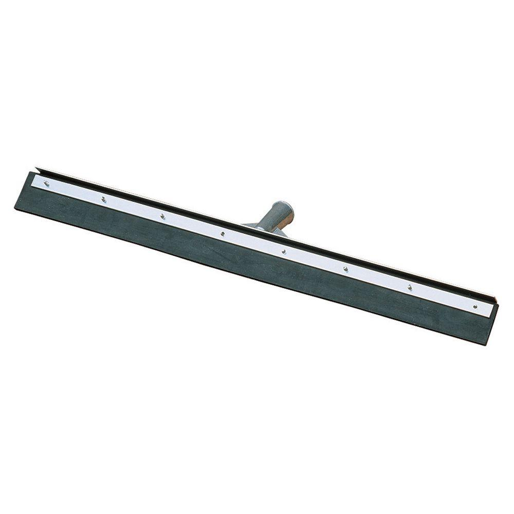 18 in. Black Rubber Floor Squeegee with Metal Frame (Case of