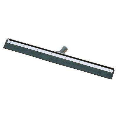 18 in. Black Rubber Floor Squeegee with Metal Frame (Case of 6)