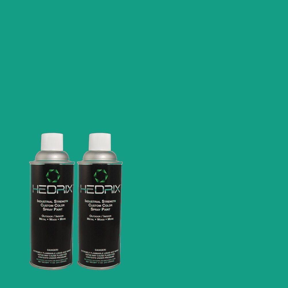 Hedrix 11 oz. Match of MQ4-19 Plumage Flat Custom Spray Paint (8-Pack)