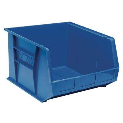 Ultra Series Stack and Hang 8.9 Gal. Storage Bin in Blue (3-Pack)