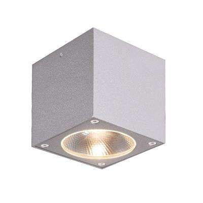 Nest Collection 1-Light Marine Grey Outdoor LED Flush Mount