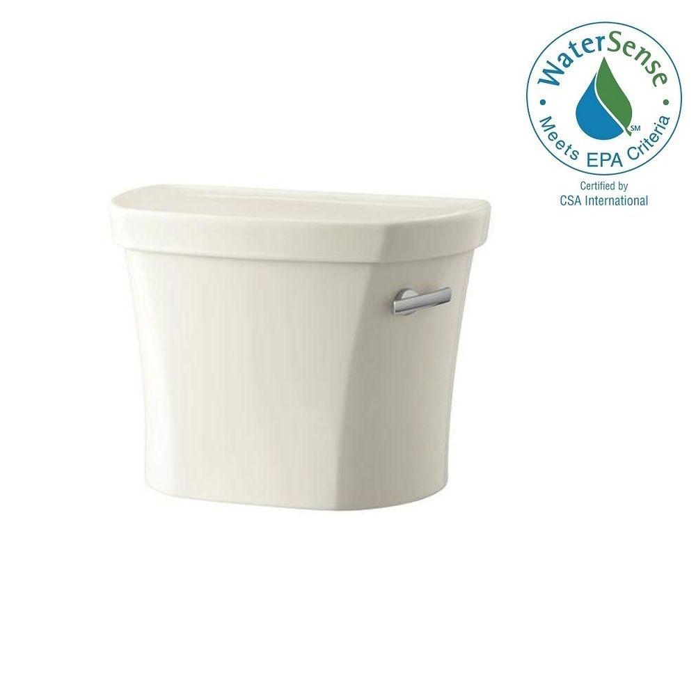 KOHLER Wellworth 1.28 GPF Single Flush Toilet Tank Only with Right Hand Trip Lever in Biscuit