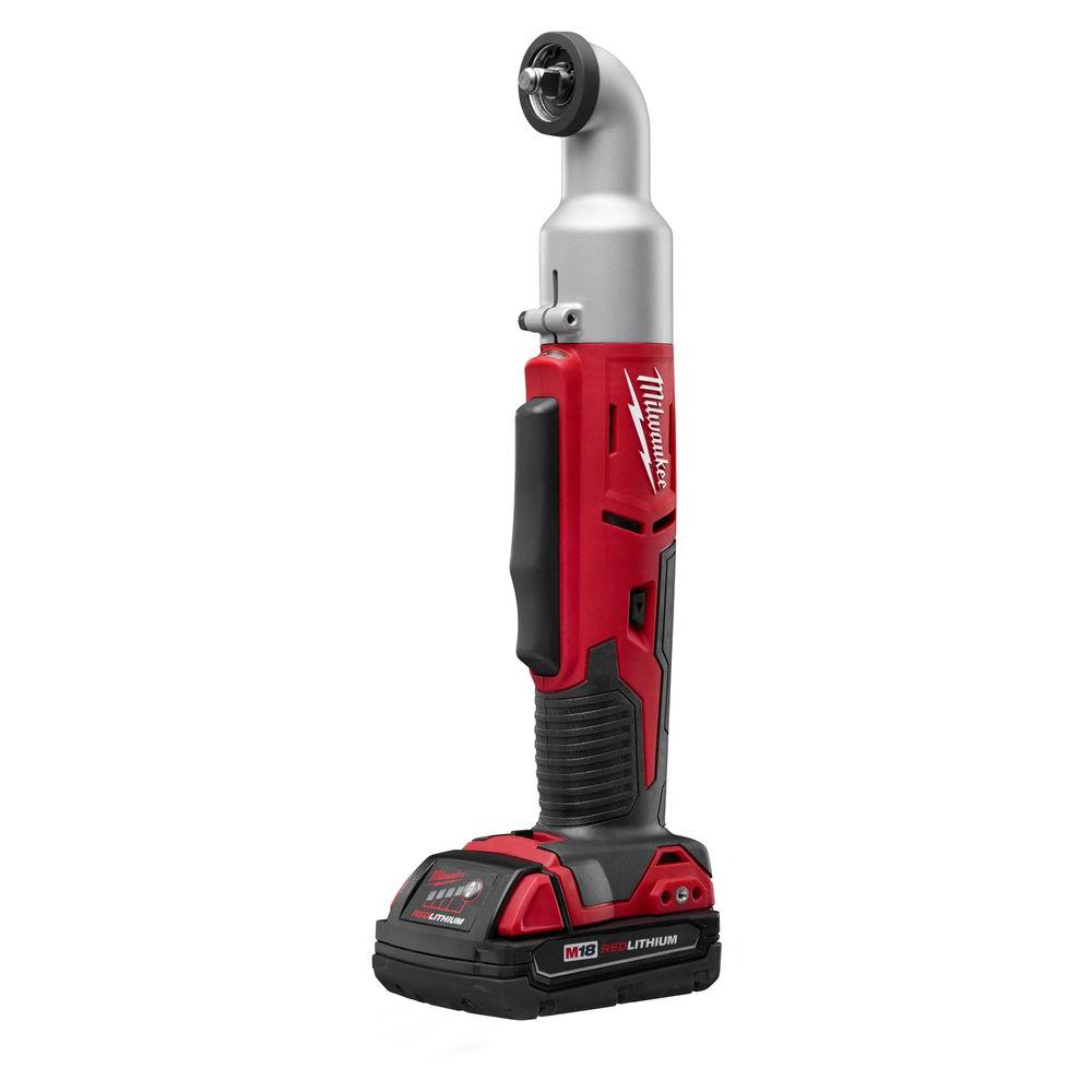 M18 18-Volt Lithium-Ion Cordless 2-Speed 3/8 in. Right Angle Impact Wrench