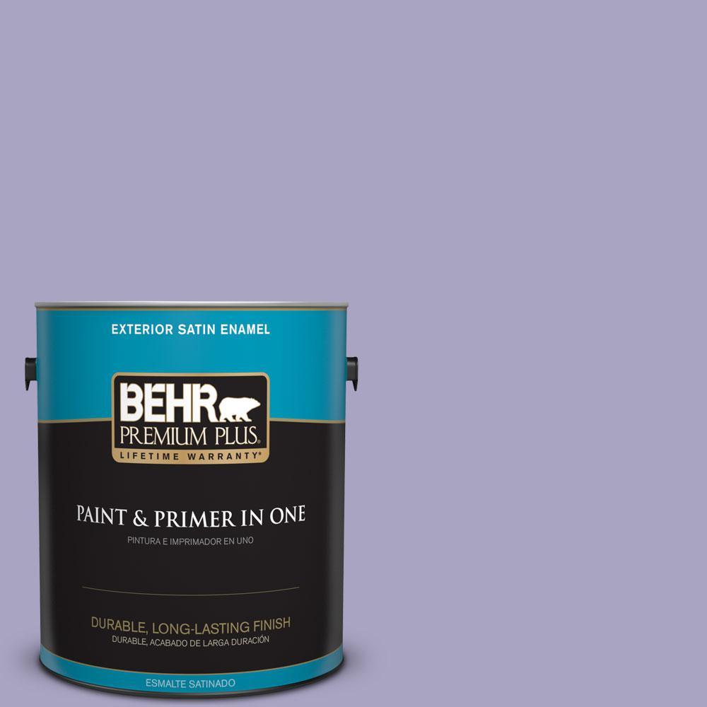 BEHR Premium Plus 1-gal. #640D-4 Canyon Mist Satin Enamel Exterior Paint