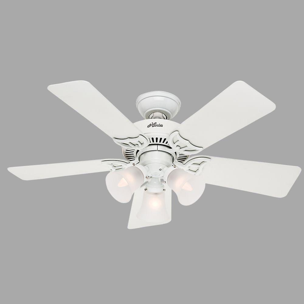 Hunter Southern Breeze 42 In Indoor White Ceiling Fan