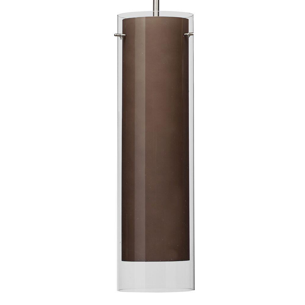 View 1-Light Brown Hanging Pendant