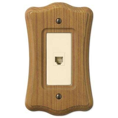 Tavern 1-Gang Phone Wall Plate - Oak