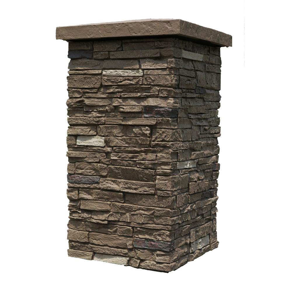 Slatestone Brunswick Brown 30 in. x 16 in. Faux Polyurethane Stone