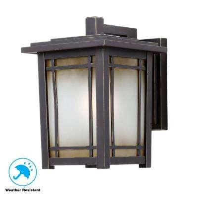 Port Oxford 1-Light Oil Rubbed Chestnut Outdoor Wall Mount Lantern