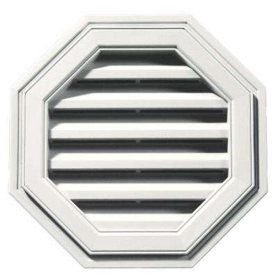 18 in. Octagon Gable Vent in White