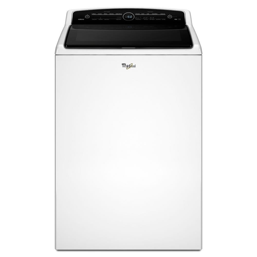 Whirlpool 5.3 cu. ft. High-Efficiency White Top Load Washing Machine with Adapative Wash Technology, ENERGY STAR