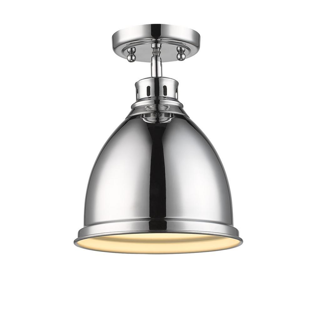 duncan 1light chrome flushmount golden lighting
