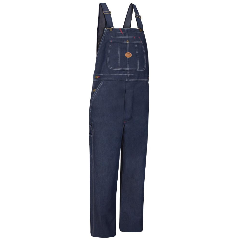 b1552b1c7163 Red Kap Men's Size 52 in. x 32 in. Denim Denim Bib Overall-BD10DN 52 ...