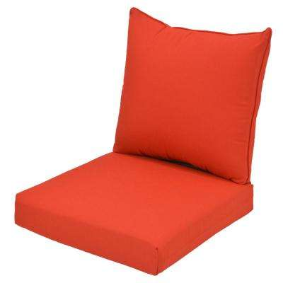 CushionGuard Ruby 2-Piece Deep Seating Outdoor Lounge Chair Cushion