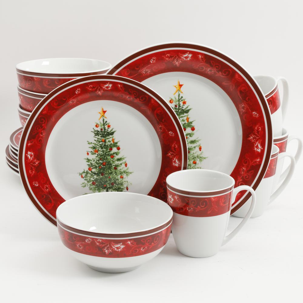 Noel Nostalgia 16-Piece Holiday Dinnerware Set