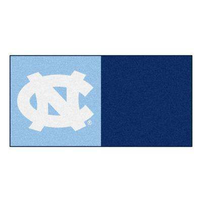 NCAA - University of North Carolina - Chapel Hill Blue and Navy Blue Nylon 18 in. x 18 in. Carpet Tile (20 Tiles/Case)