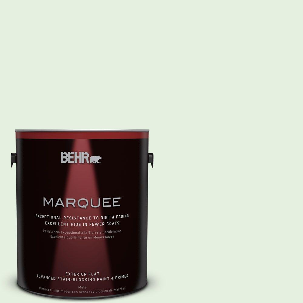 BEHR MARQUEE 1-gal. #M390-1 Mayfair White Flat Exterior Paint